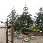 Sweeping views of the power lines from the 'ocean view' room