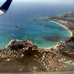 Aerial view while leaving St Martin