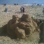 sculpture de sable : magnifique !