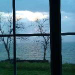 View from our bed...storm clouds