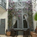 The lovely courtyard in Riad Adore, where we had breakfast if still cool outside...