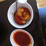 rice ball & sauce