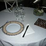 Table pour repas du soir