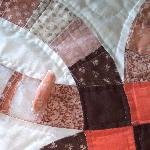 Tattered bedspread