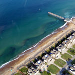 Jenette's Pier as seen from the air.