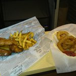 cod & fries with onion rings