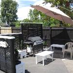 Guest barbecue area