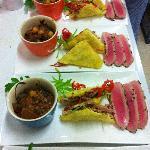 Tuna, Goat Gumbo & Duck Tacco