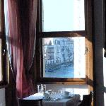 The view of the Grand Canal from the breakfast room