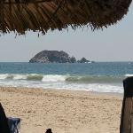 Vue de nos chaises de plage