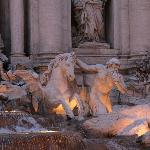 Trevi Fountain close up
