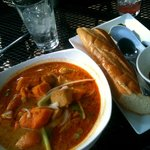 My favorite- the Chicken Curry with Baguette