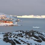 view to Ilulissat fishing harbour