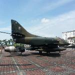 Jet plane outside museum