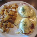 My favorite breakfast- eggs benedict!