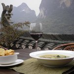 Minnestrone in the Grove at Yangshuo Village Inn