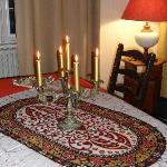 my christmas table from Jayameli Batiks