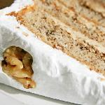 Frosted Coffee and Walnut Cake