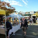 Farmers market in Nelson, easy walk from B&B