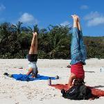 Headstands on Flamenco Beach