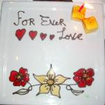 "Our special ""love"" plate"