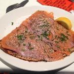smoked salmon crepe