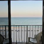 View of the Gulf of Mexico while standing at the dining table