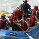 Rafting Excitement near Boulder Drop Rapids on the Skykomish River