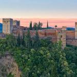 Alhambra dawn from Mirador san Nicolas