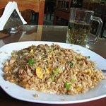 stir-fried rice with mushrooms
