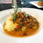 Chicken over polenta entre'