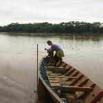 En el río Tambopata