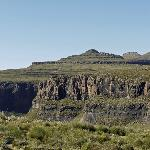 The view across Sani Pass from our room