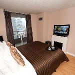 1 Bedroom Executive Suite - The Bedroom with walkout to a spacious terrace / balcony