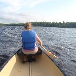 canoeing on the private lake
