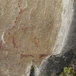 San cave art on a hike