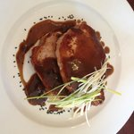 Pork chops on Black pudding Mash