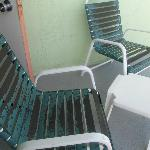 Our nice rusted balcony chairs
