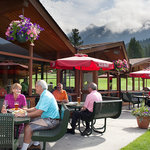 Take in the scenic Rocky Mountains on the spacious patio.