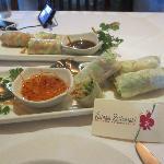 summer rolls / shrimp and veggie GET THE VEGGIE ONES!!