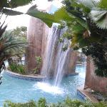 Pool waterfall north side