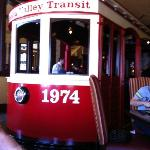 The trolley in our dining room