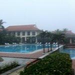 main pool area early morning