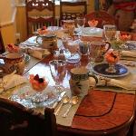 The breakfast table ( wonderful)