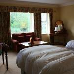 Our awesome room overlooking the gardens