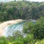 View of Arnos Vale Beach/Reef from the lookout nearby