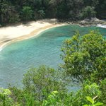 View of Arnos Vale beach from lookout