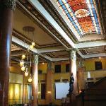 lobby with skylight