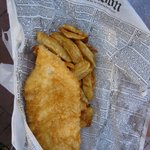 Greasy, terrible fish and chips