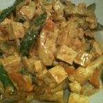 Curry Stir Fry with Tofu and Brown Rice